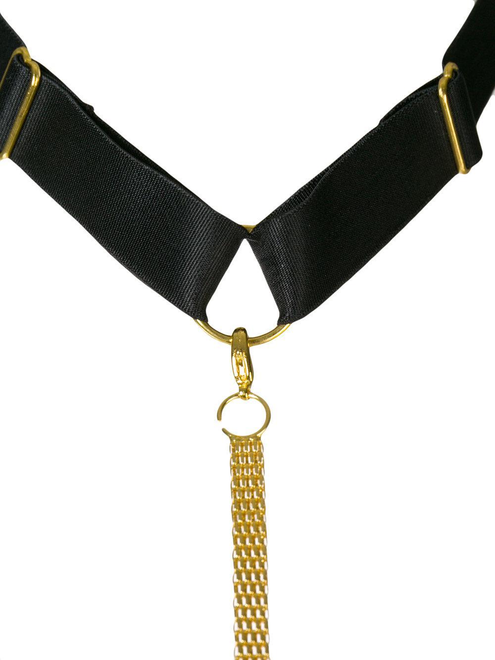 Tapage Nocturne Plastron harness - Black Maison Close Release Dates For Sale g3Ajj