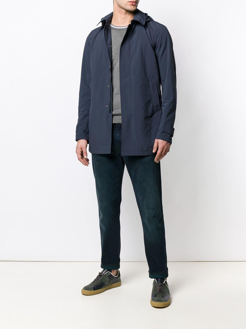 582cf10d6bf6 Herno - Blue Hooded Lightweight Jacket for Men - Lyst. View fullscreen