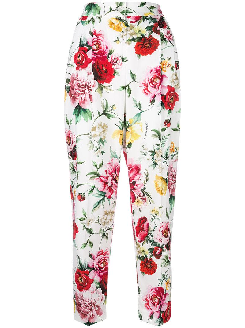floral print cropped trousers - Multicolour Dolce & Gabbana y3mev6w