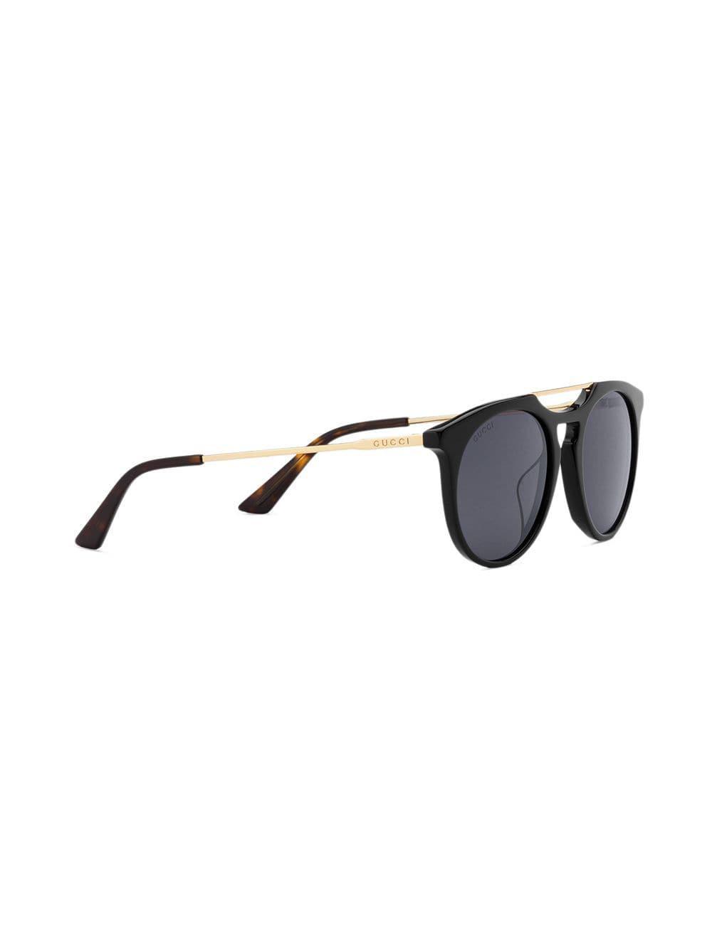 cc5bc8c2fd0 Lyst - Gucci Round-frame Acetate Sunglasses in Black for Men