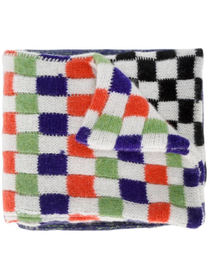 check and stripe scarf The Elder Statesman vavZwpH7k2