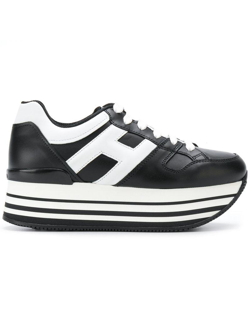 logo embellished platform sneakers - Black Hogan uui4U9