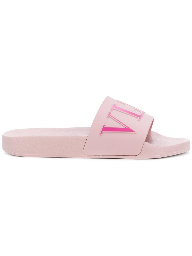 VLTN slides - Pink & Purple Valentino TCi5Hstt