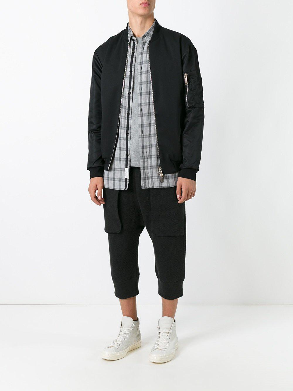 Helmut Lang Cotton Cropped Trousers in Black for Men
