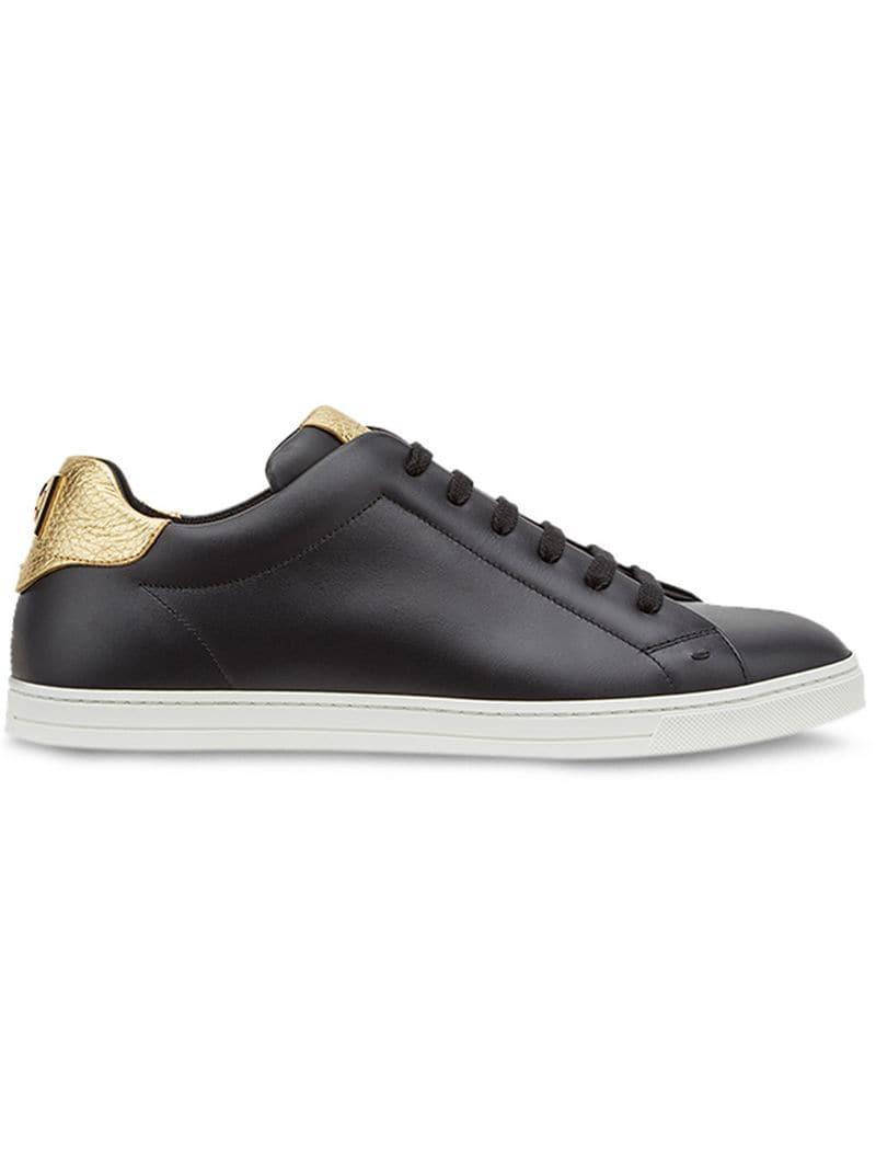 811499648c801 Fendi - Black Logo Low-top Sneakers for Men - Lyst. View fullscreen