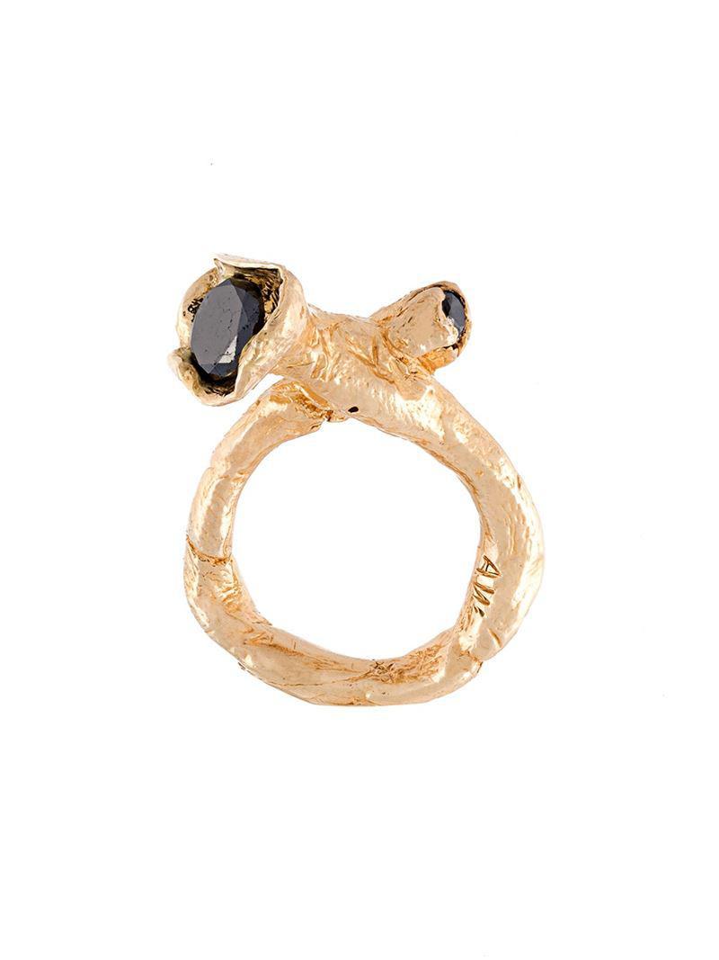 Alice Waese Cage Ring - Metallic knxP1
