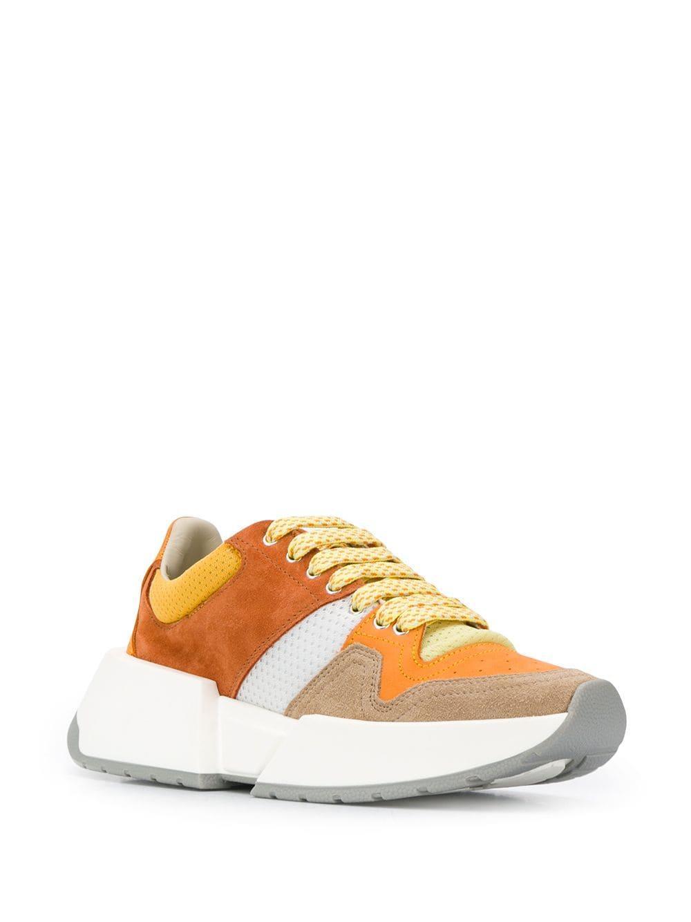 Zapatillas con diseño de paneles MM6 by Maison Martin Margiela de Cuero de color Naranja
