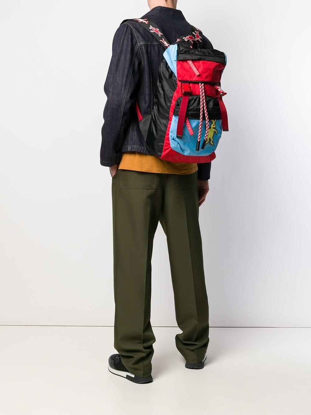 e8afa0023e Marni Rabbit Logo Backpack in Black for Men - Lyst