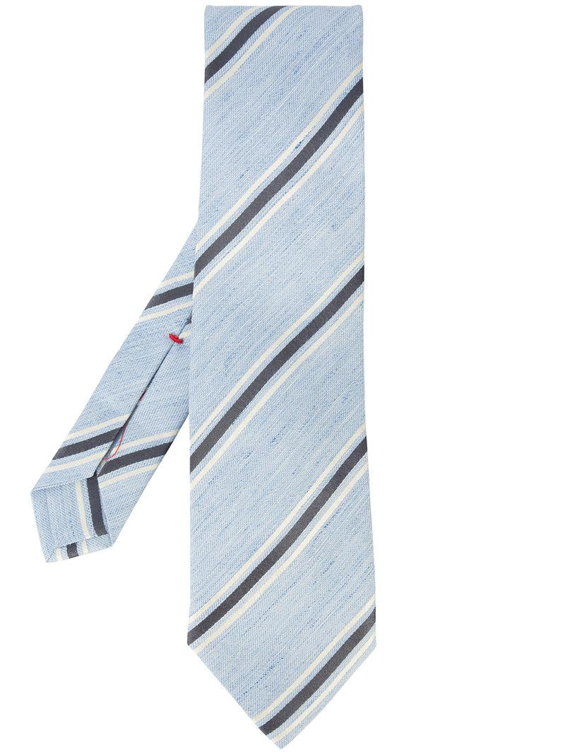 contrast stripe tie - Brown Isaia s38Dii