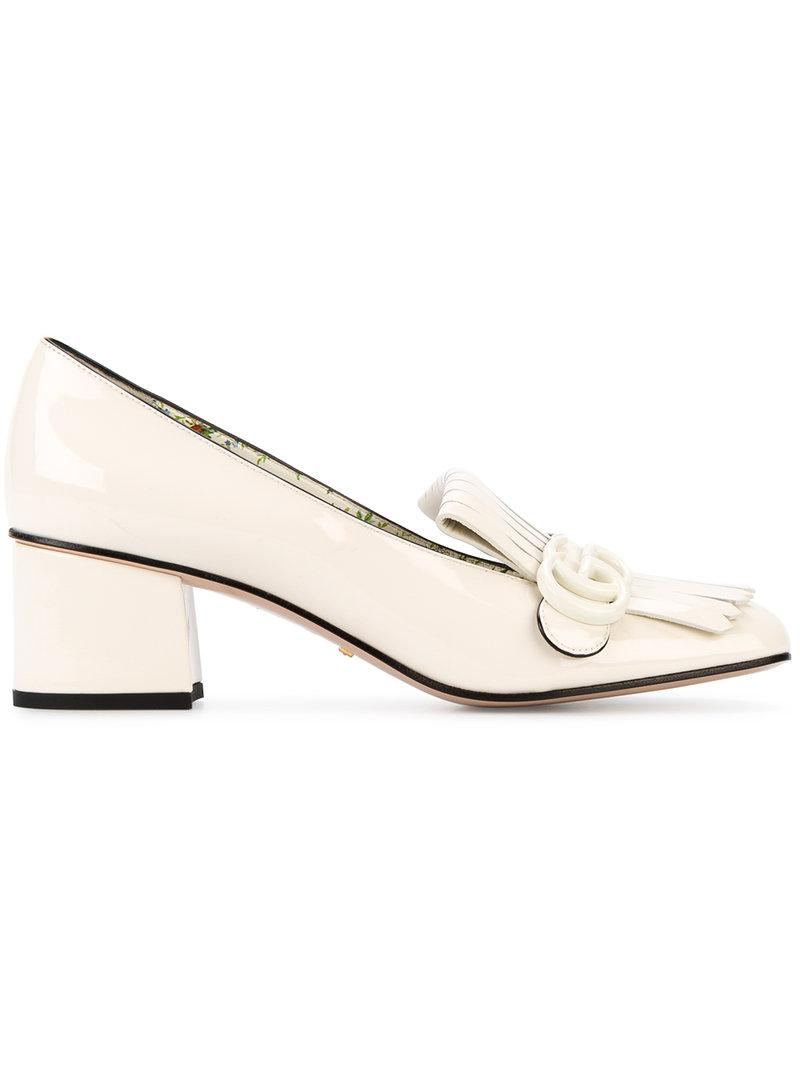 Gucci Leather White Patent Marmont