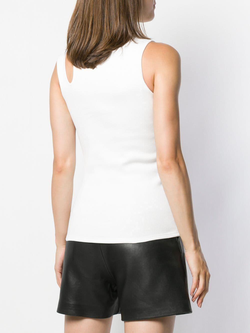 Top con abertura en los hombros Balmain de color Blanco