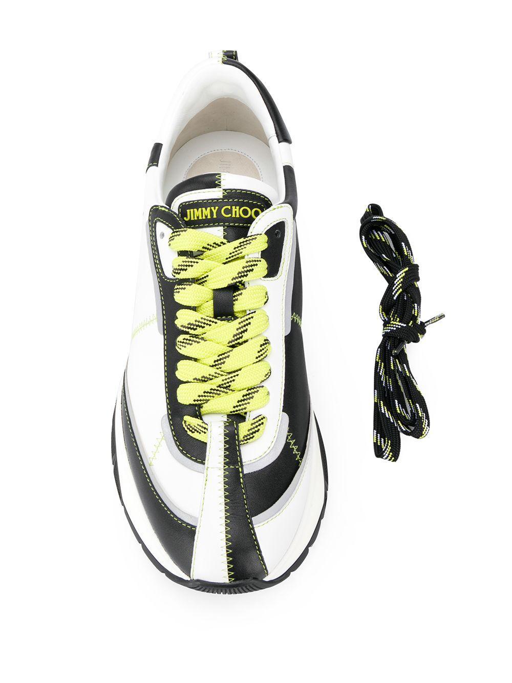 Jimmy Choo Leer Raine/m Low-top Sneakers in het Wit voor heren
