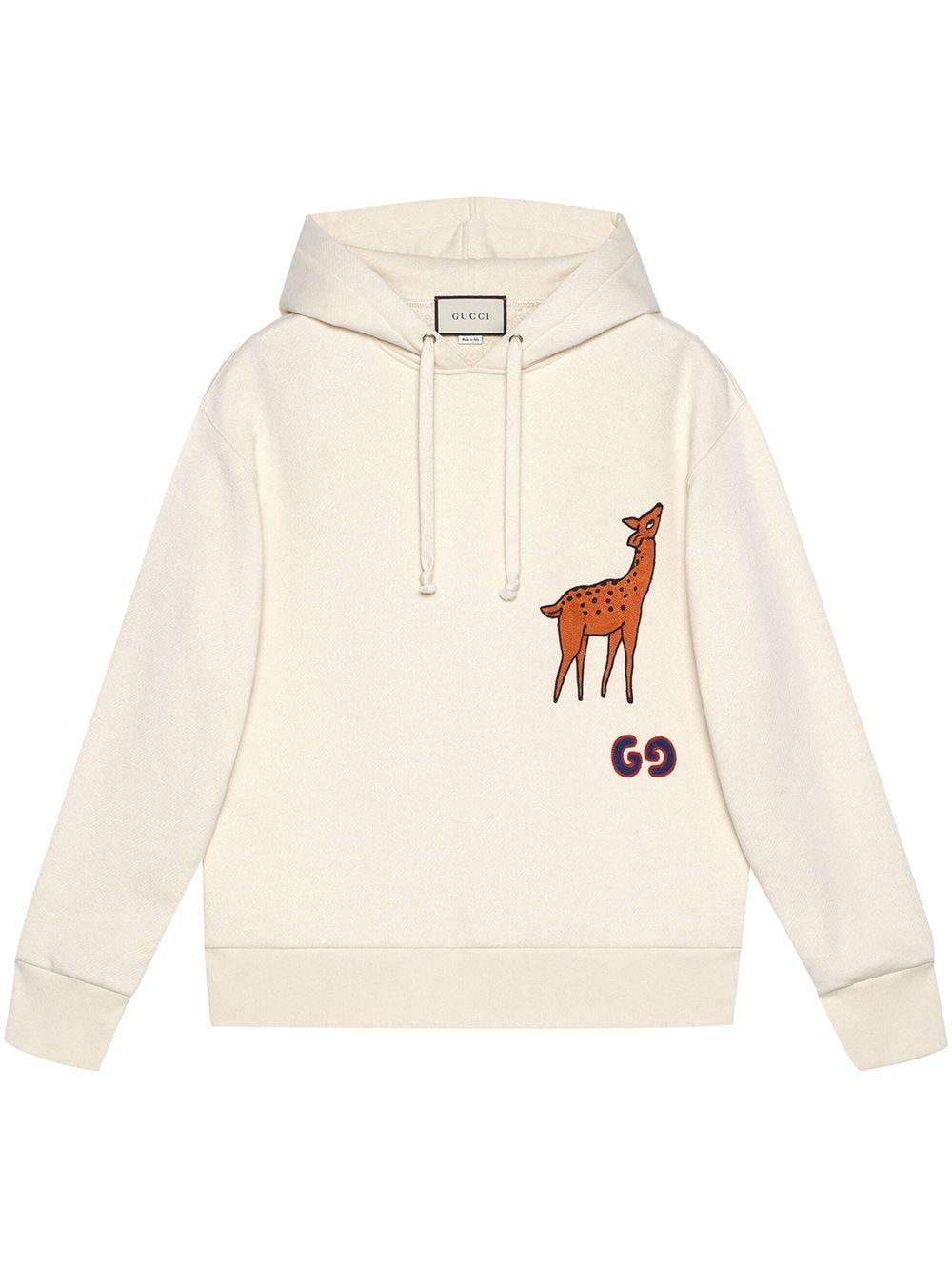 Men\u0027s Deer,applique Pullover Hoodie