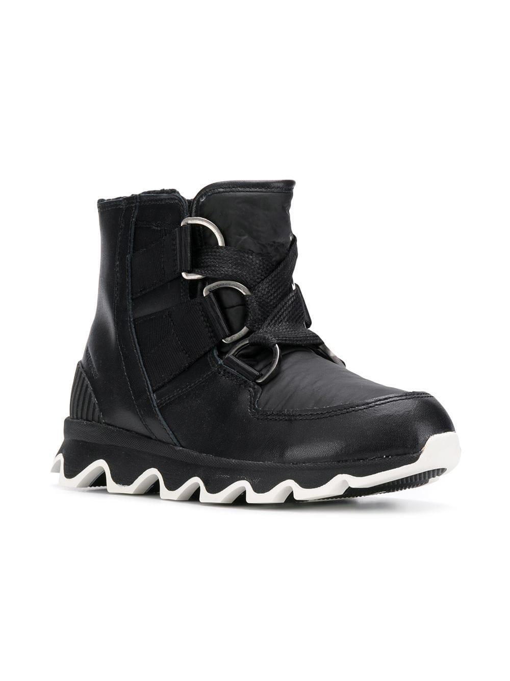 703da59f42bd Sorel Lace-up Platform Boots in Black - Lyst