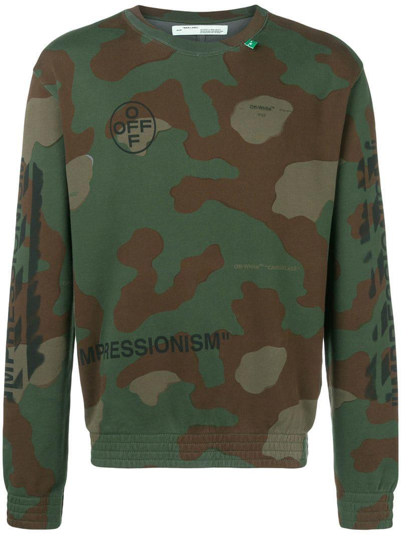 4127cf16e408 Lyst - Off-White c o Virgil Abloh Camouflage Printed Sweatshirt in ...