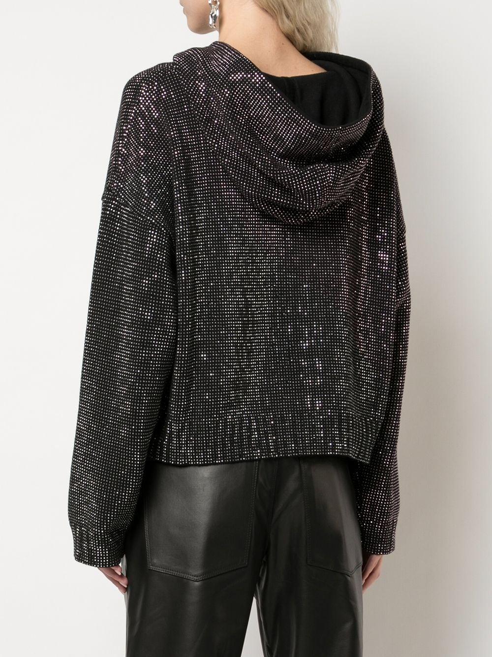 Sudadera oversize con capucha y apliques RTA de Tejido sintético de color Negro