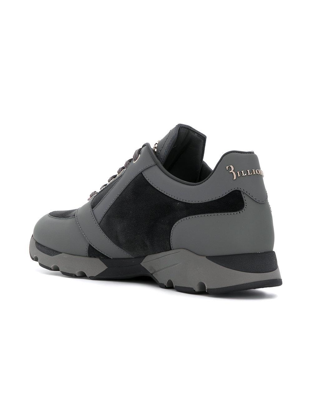 Lyst Billionaire Panelled Sneakers In Gray For Men