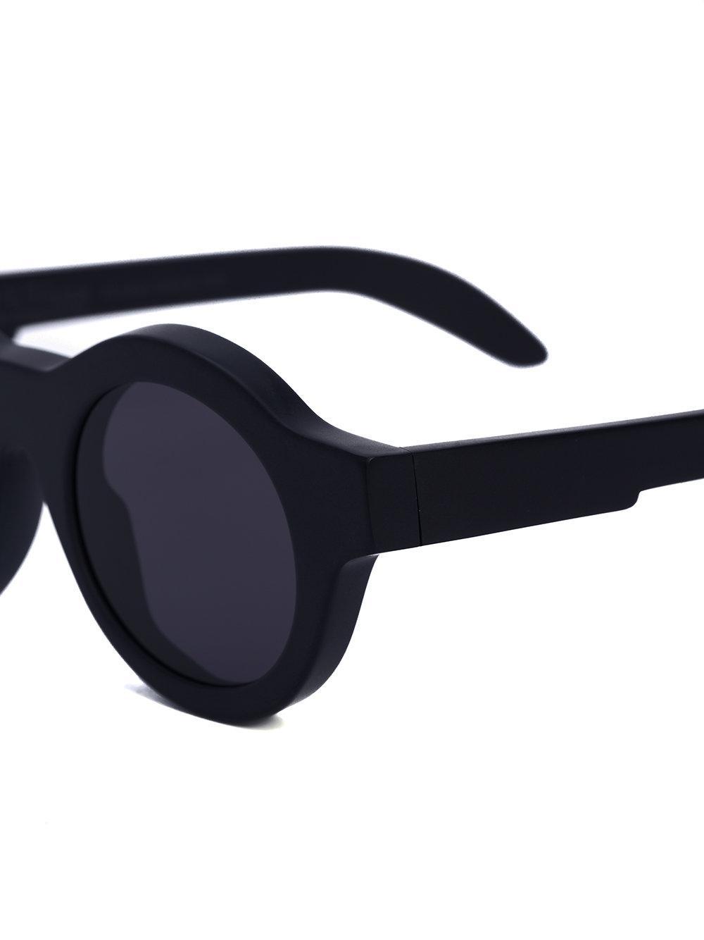 Kuboraum Round Tinted Sunglasses in Black