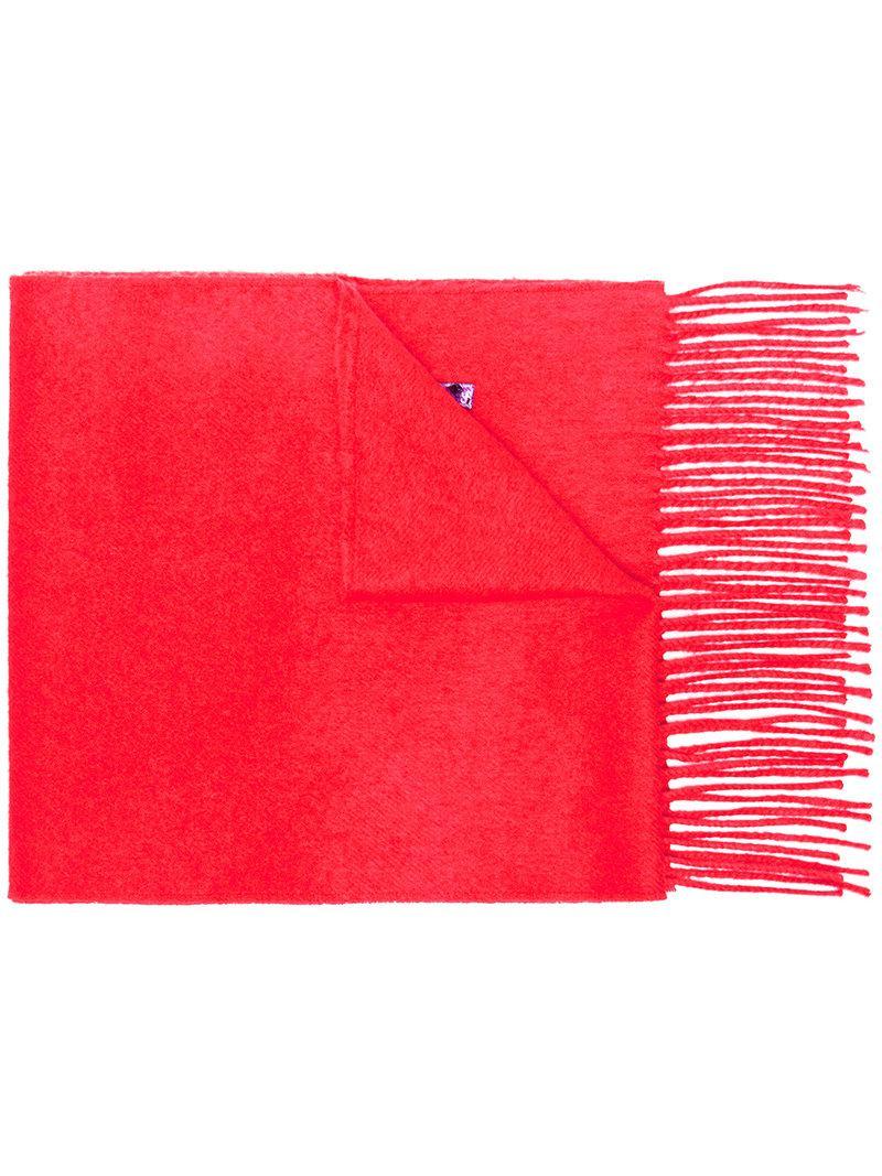 10629d10e1c Lyst - Écharpe Guccy à broderie de sequins Gucci en coloris Rouge