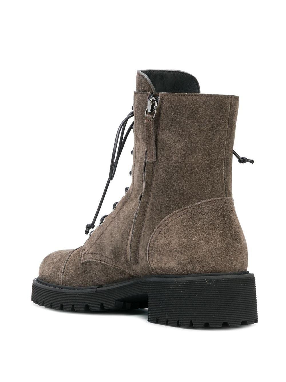 Giuseppe Zanotti Suede Lace-up Boots in Brown