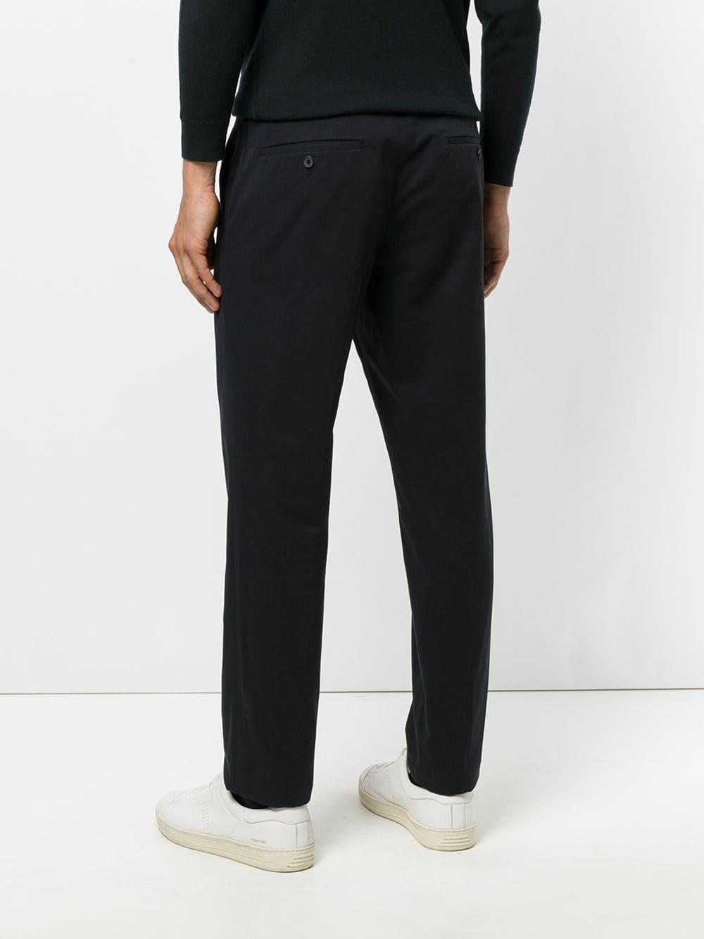 Prada Katoen Classic Tailored Trousers in het Zwart voor heren