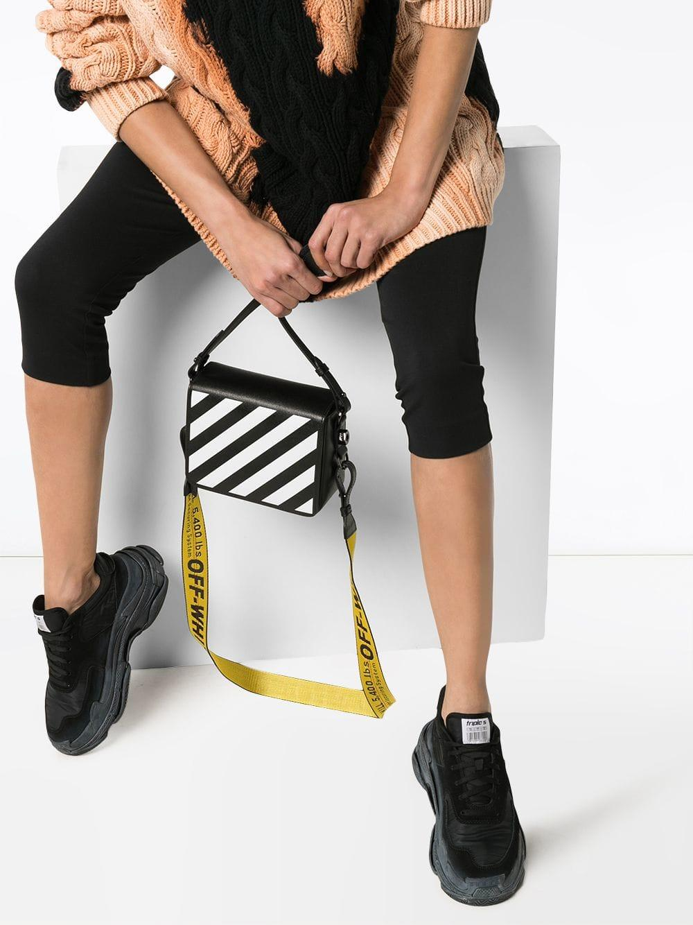 081c3049567ba Lyst - Off-White c o Virgil Abloh Striped Tape Shoulder Bag in Black - Save  22%