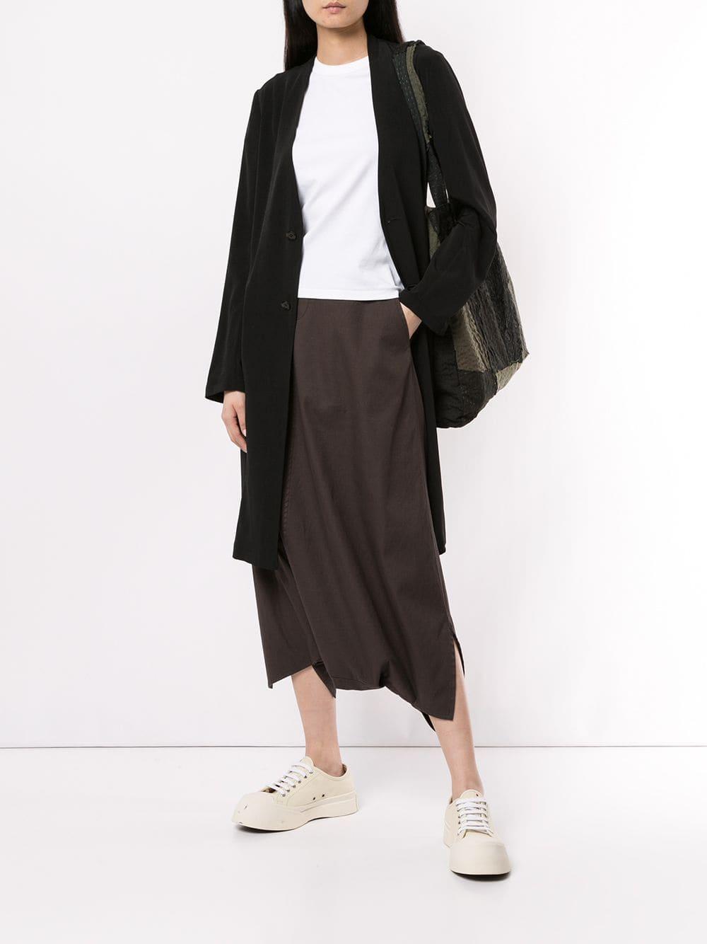 Y's Yohji Yamamoto Baumwolle Hose mit tiefem Schritt in Grau SRNM8