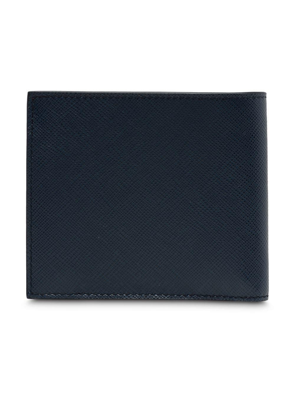 77d5db159326 Prada - Blue Logo Plaque Wallet for Men - Lyst. View fullscreen