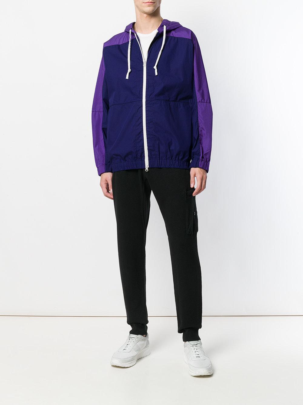 Dima Leu Cotton Panelled Zip Front Jacket for Men