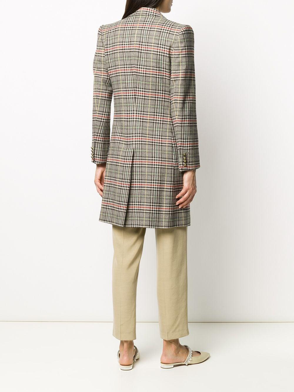 Manteau à carreaux et boutonnière croisée Laines Etro en coloris Marron DsWqG