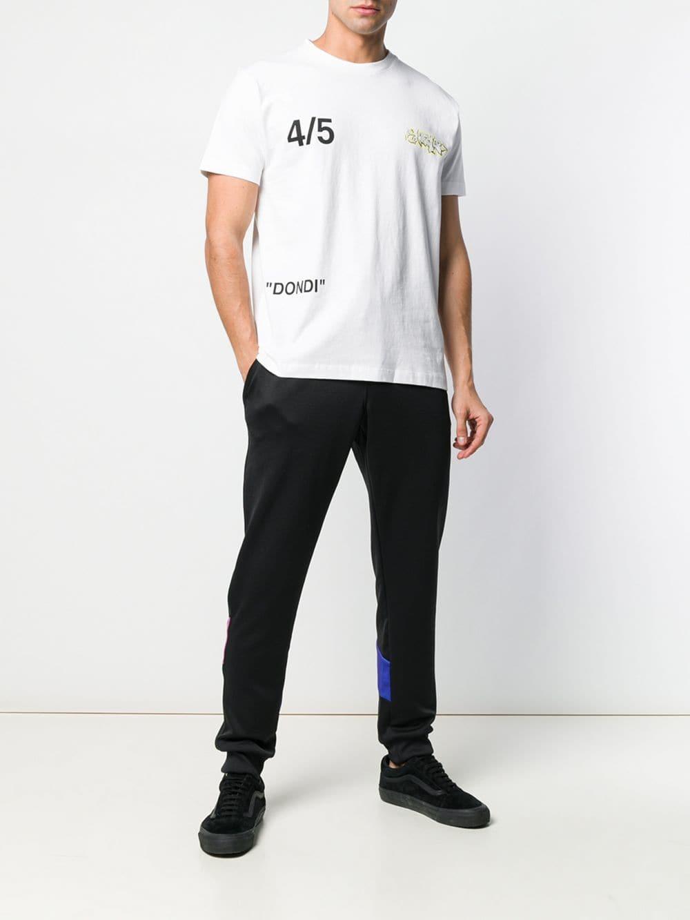 892a2e6b1ab5 Lyst - Off-White c o Virgil Abloh Short-sleeve Printed T-shirt in White for  Men