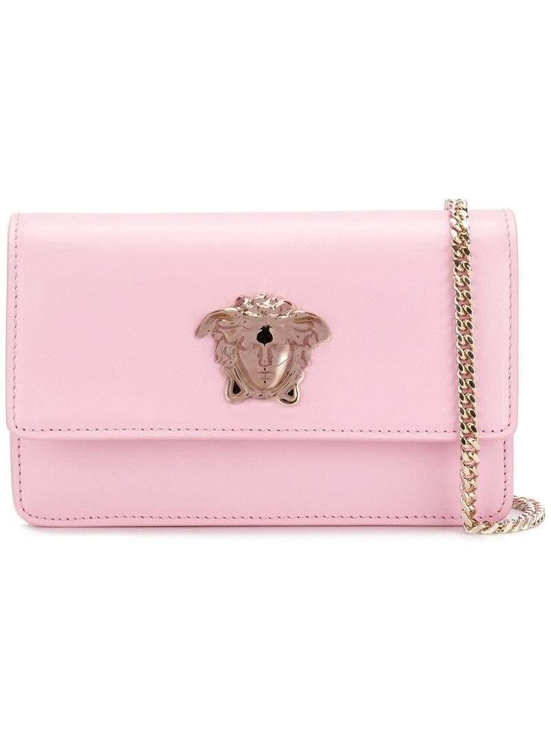 ebefb56e5 Versace Palazzo Medusa Crossbody Bag in Pink - Lyst