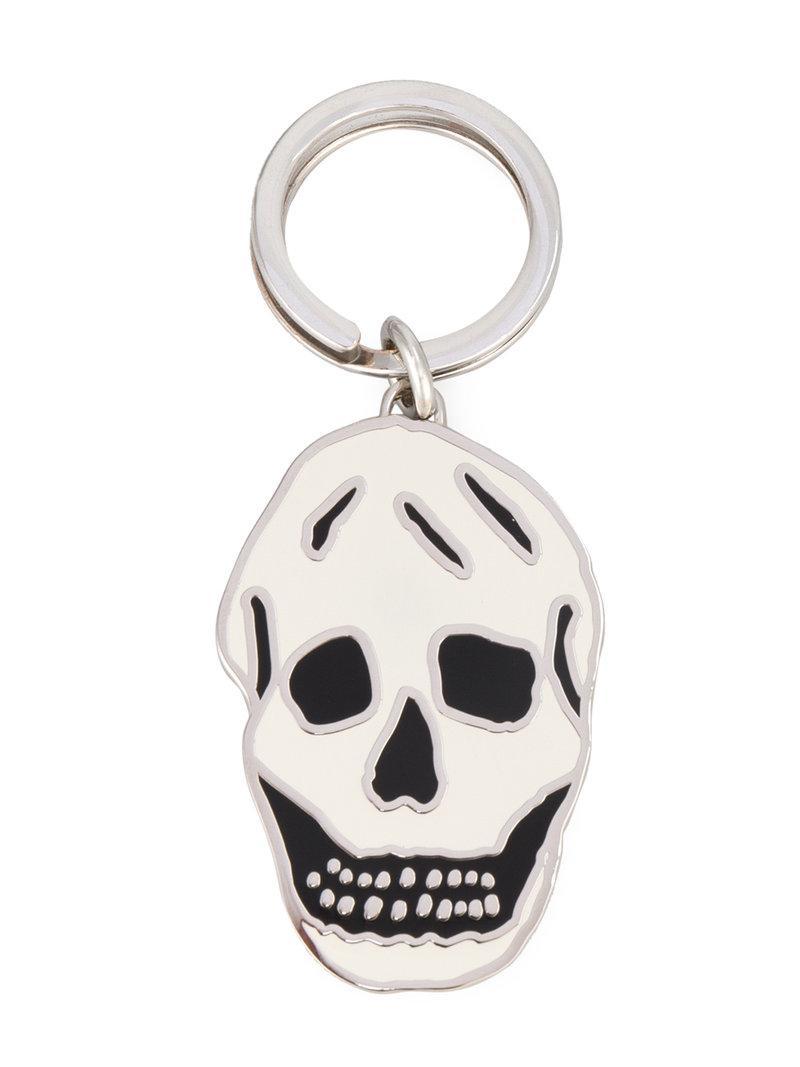 Alexander McQueen skull embellished keyring - Metallic 6vPRgZ