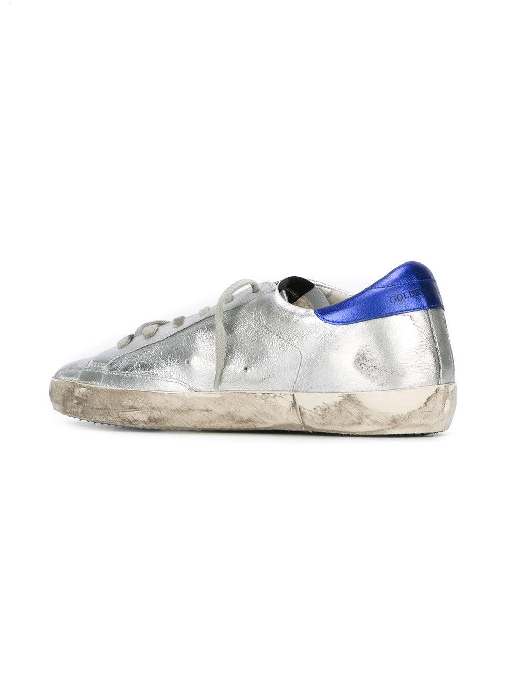 Golden Goose Deluxe Brand Leather Super Star Sneakers in Metallic (Brown)