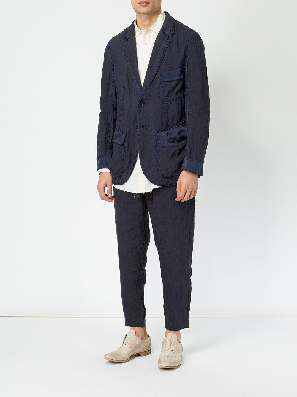 218eeb75 Lyst - Ziggy Chen Cargo Blazer in Blue for Men