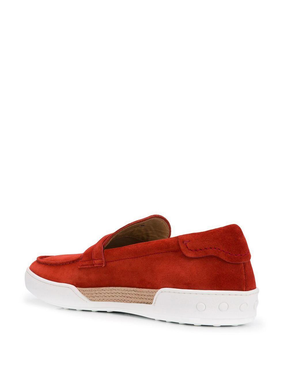 Mocasines penny Tod's de Cuero de color Rojo para hombre