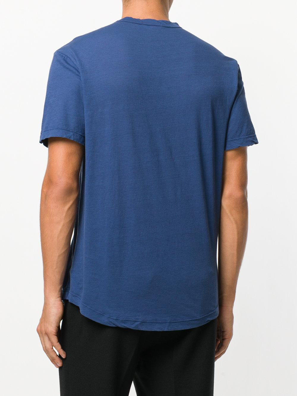 Lyst james perse plain t shirt in blue for men for James perse t shirts sale