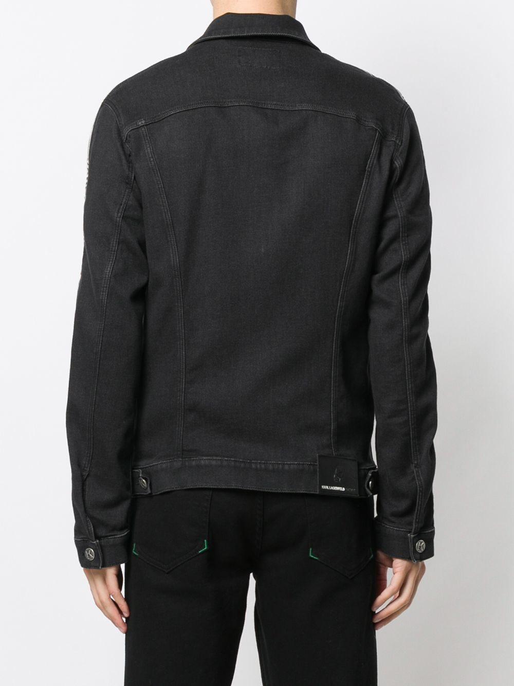 Karl Lagerfeld Denim Jeans Met Logo in het Zwart voor heren