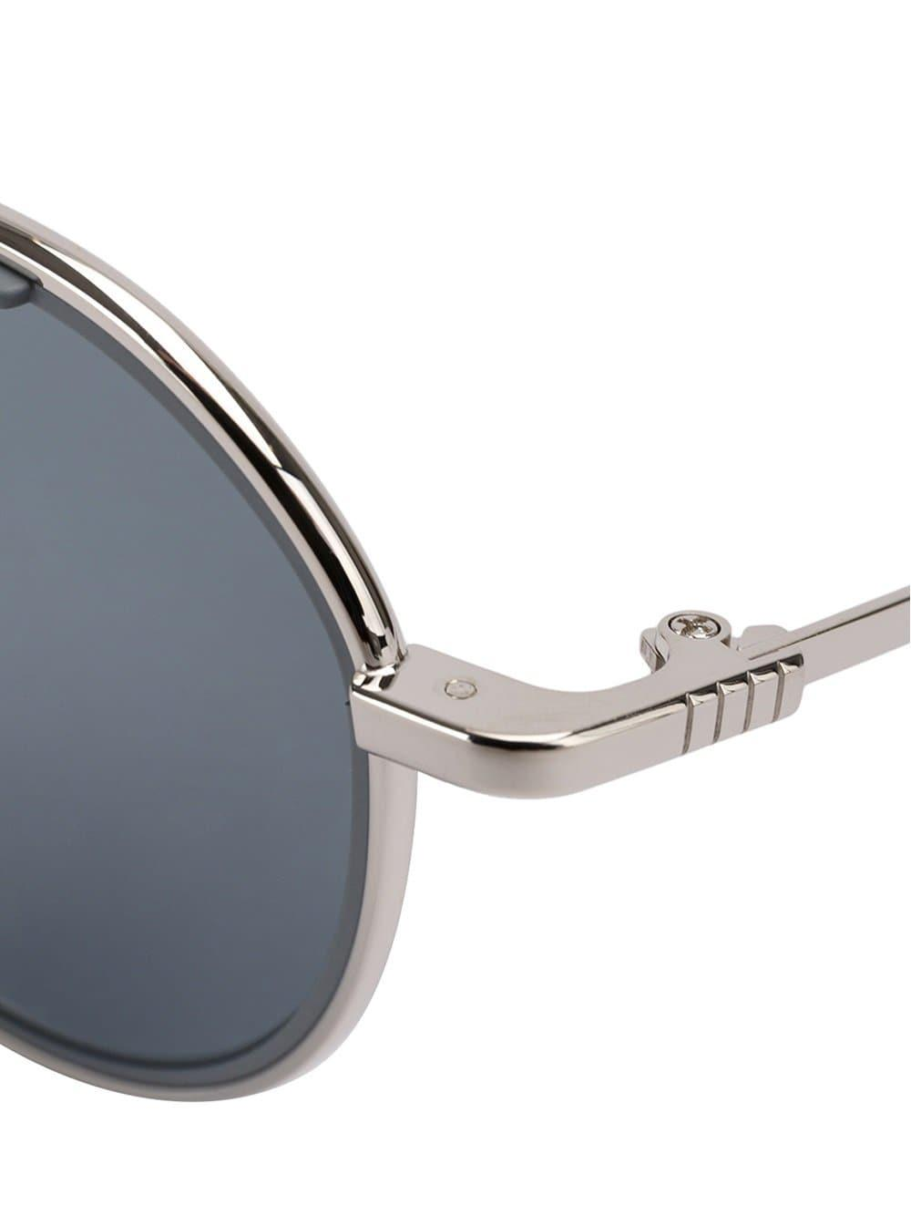 Thom Browne Silver & Matte Grey Sunglasses in Grey