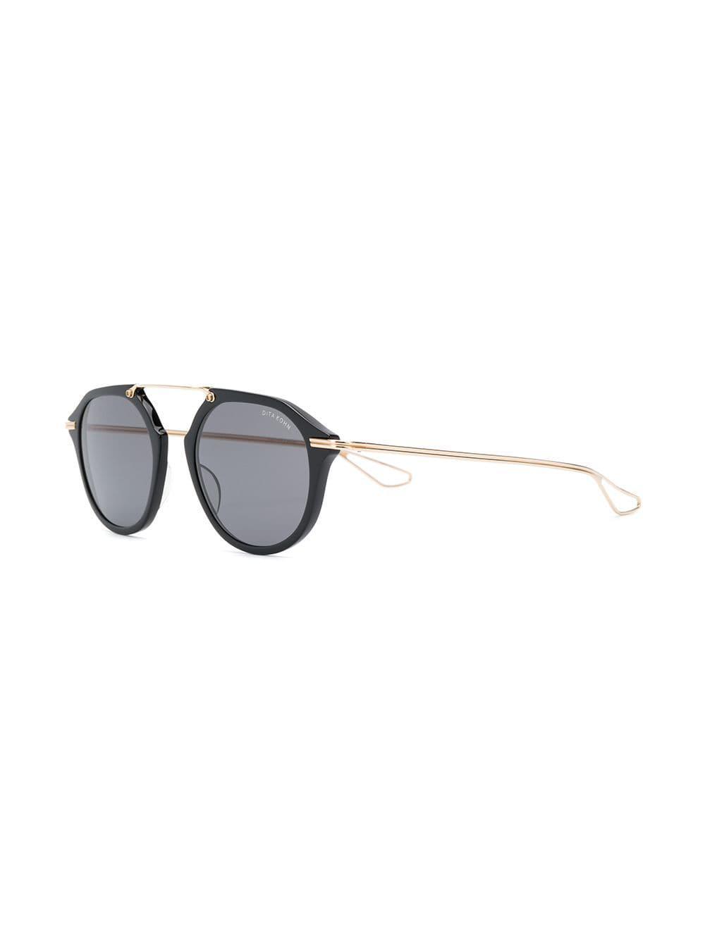1a38fa4f5480 Dita Eyewear - Black Round Tinted Sunglasses - Lyst. View fullscreen