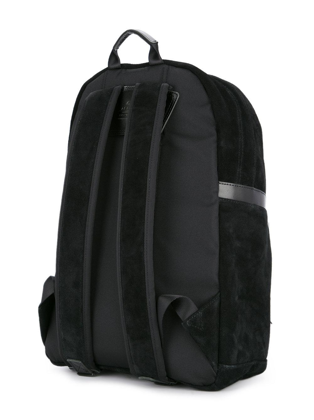 AS2OV Suede Waterproof Backpack in Black for Men