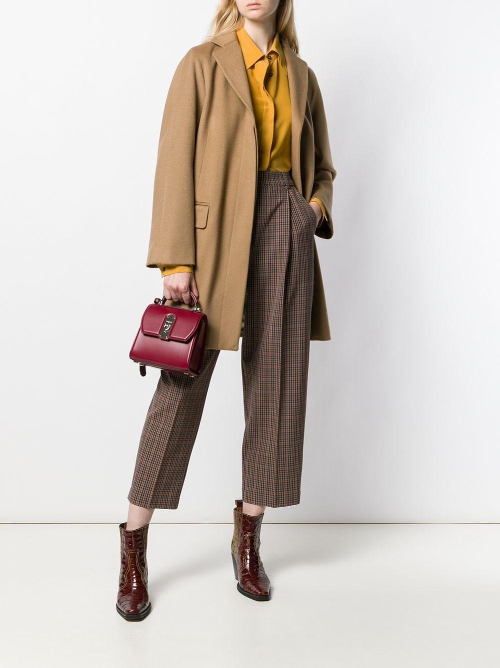 Mini sac à main Boxyz Cuir Ferragamo en coloris Rouge