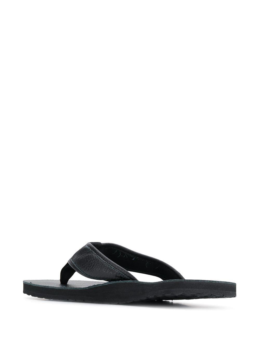 56289dfd7071 Polo Ralph Lauren - Black Embossed Logo Flip-flops for Men - Lyst. View  fullscreen