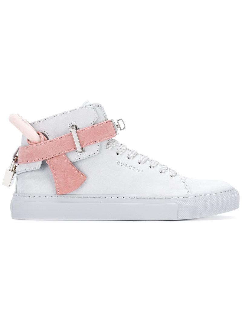 tie detail high-top trainers - Grey Buscemi vvKSeP