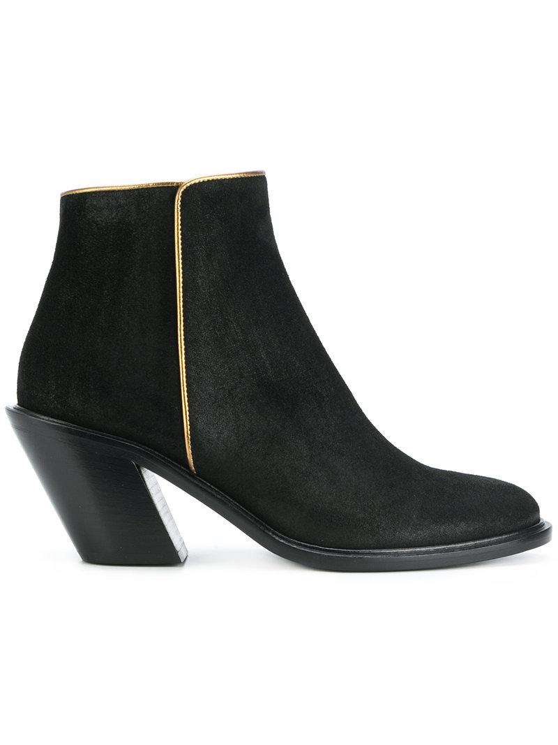 A.F.Vandevorst gold trim ankle boots outlet best store to get outlet best prices reliable for sale dWHypH