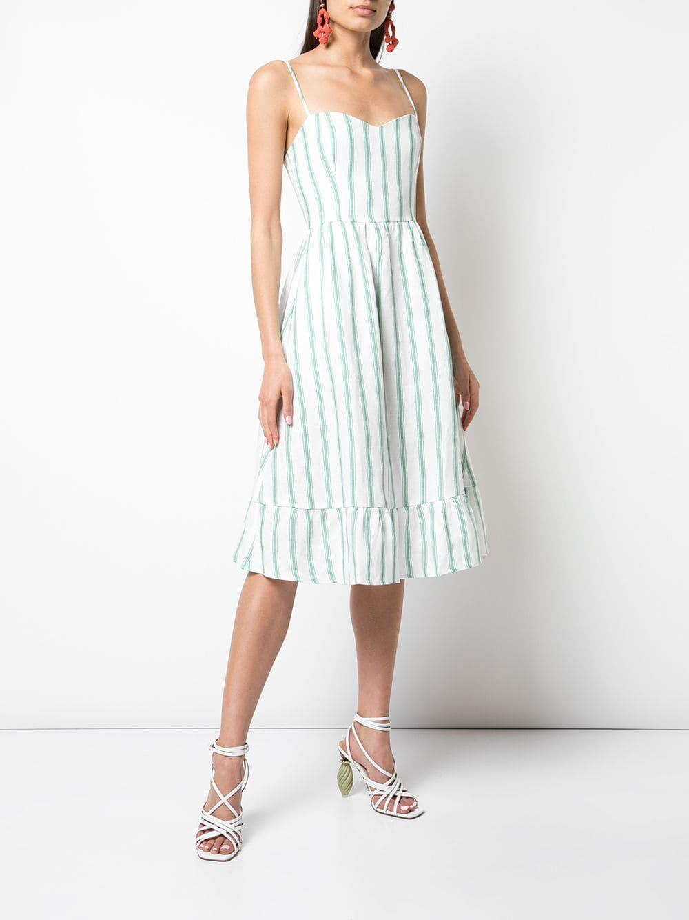 5f88104c9af Lyst - Reformation Eileen Striped Dress in White