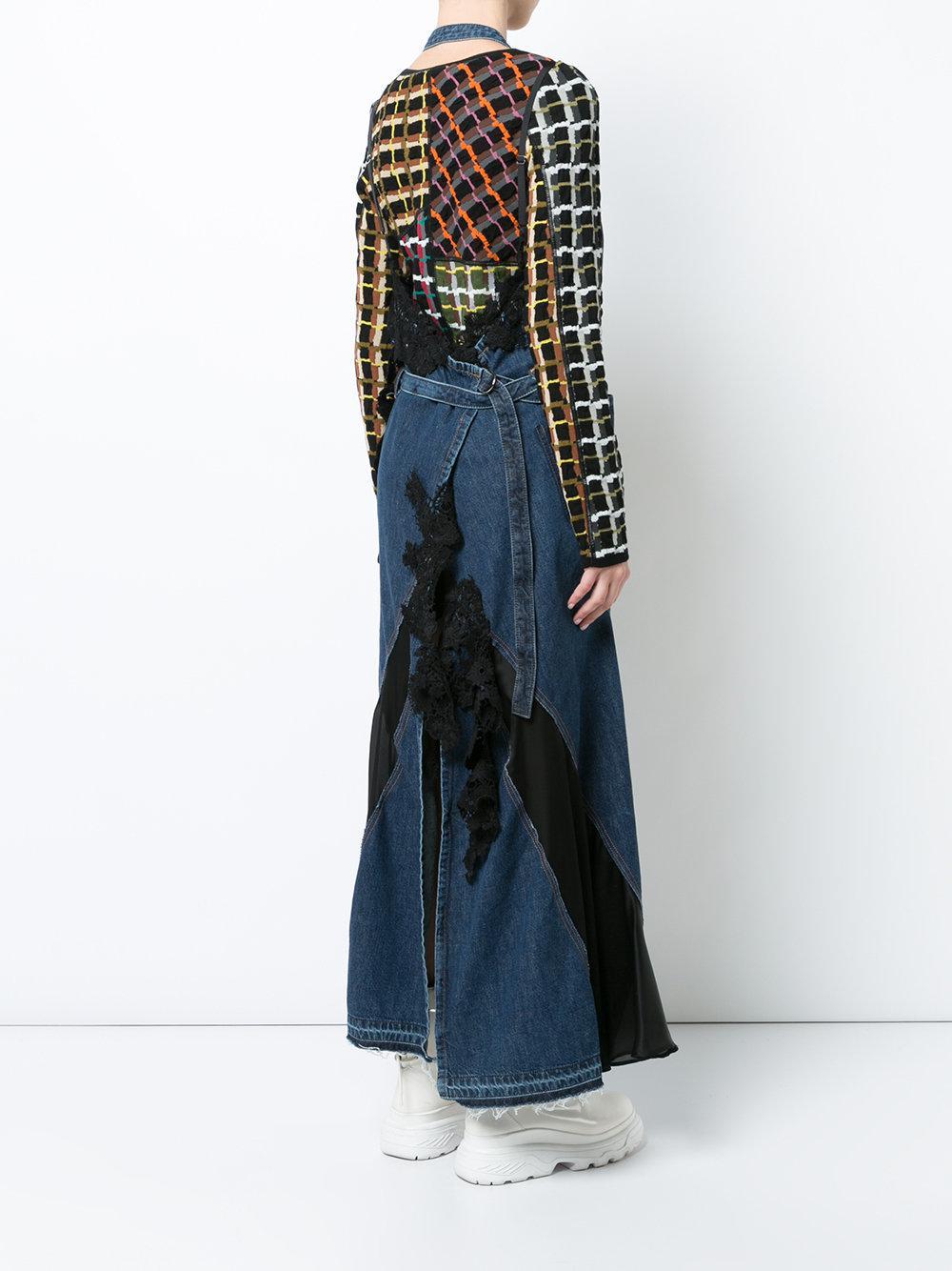 Sacai Denim Maxi Dress in Blue