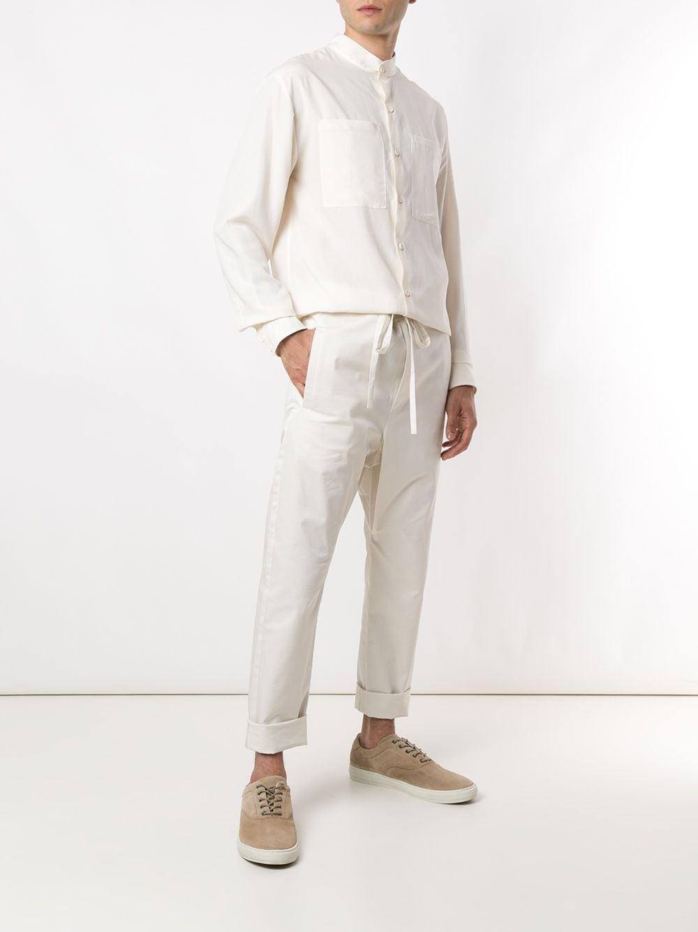 Egrey Synthetisch Overhemd in het Wit voor heren