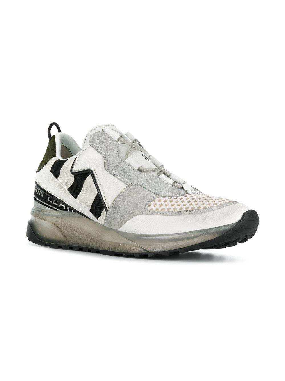 Leather Crown Cotton Maero Sneakers in White