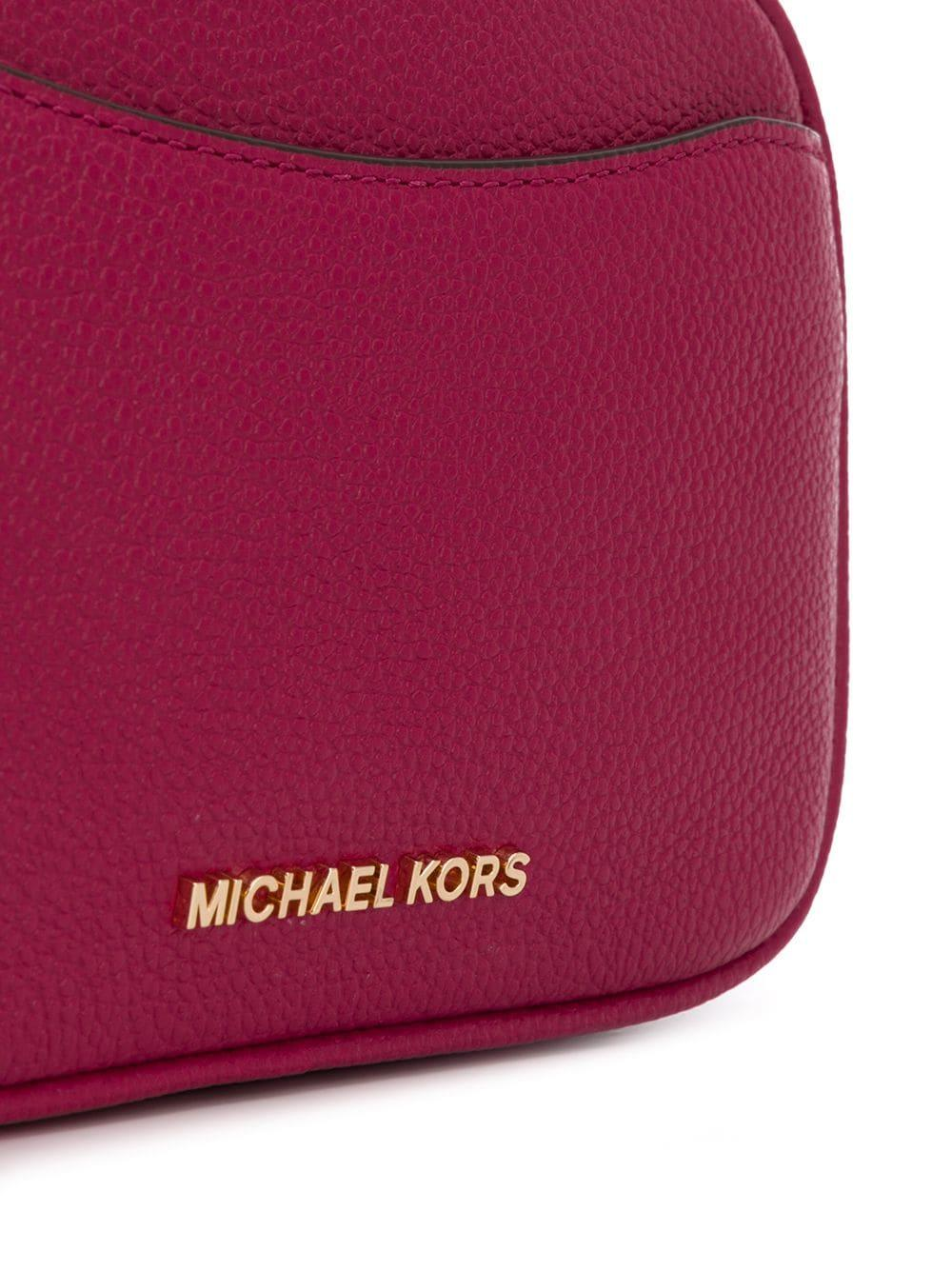 Sac banane en cuir grainé à plaque logo Cuir MICHAEL Michael Kors en coloris Rose
